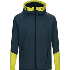 Peak Performance Rider Jas Heren geel/blauw